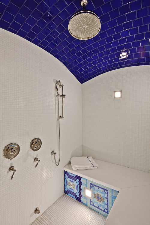 traditional bathroom Color of the Month: Decorating with Cobalt