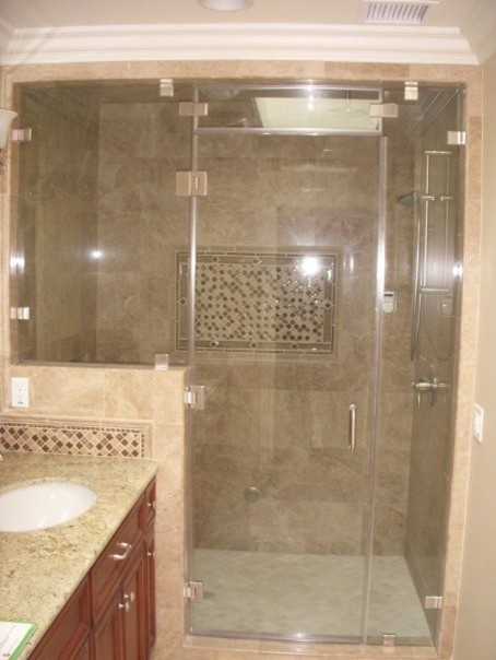 Steam Shower Door Traditional Bathroom