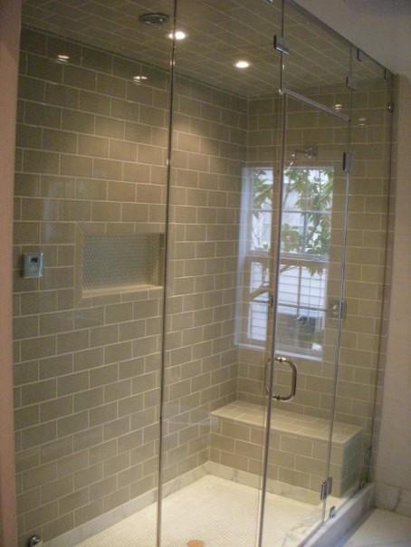 Steam Shower Door traditional-bathroom