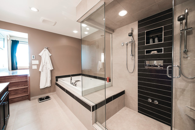 Steam Shower Ensuite Remodel Contemporary Bathroom Other Metro By Centennial 360
