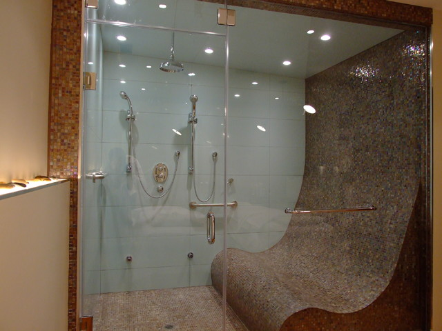 Steam shower for three for Bathroom design build