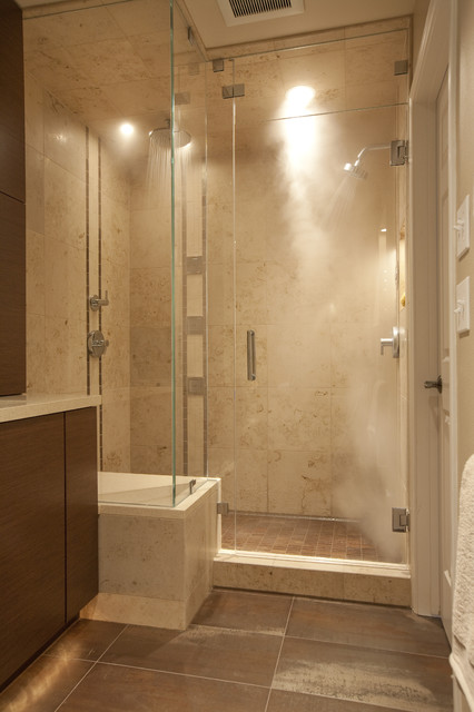 Steam shower contemporary bathroom seattle by for Build steam shower
