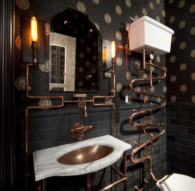 Inspiration For A Victorian Bathroom In San Francisco With Metro Tiles