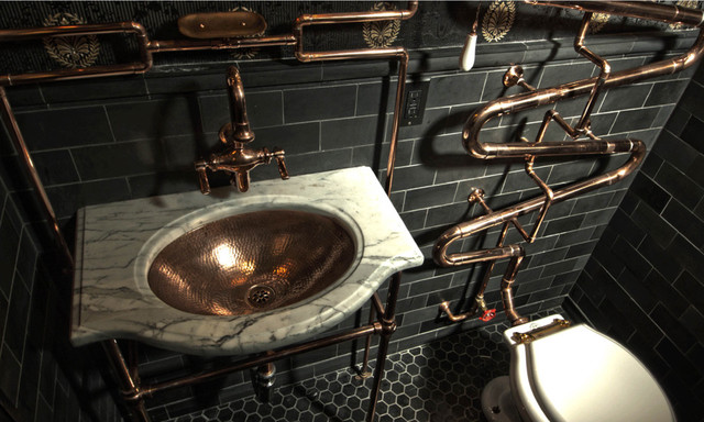 Image result for steam punk bathroom