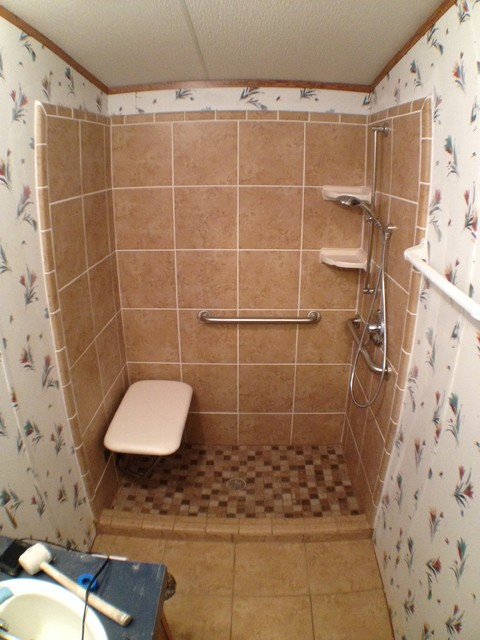 step in shower modern bathroom austin by texas ada home
