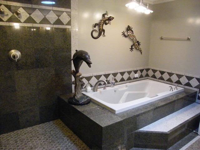 Step Up To A Platform Tub Transitional Bathroom Seattle By