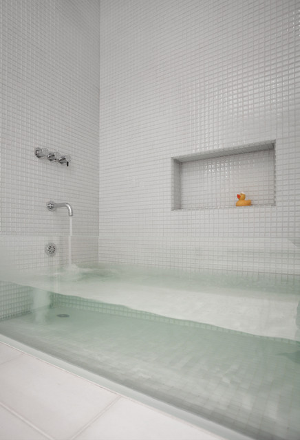 Sternmccafferty Custom Glass Bathtub   Contemporary ...