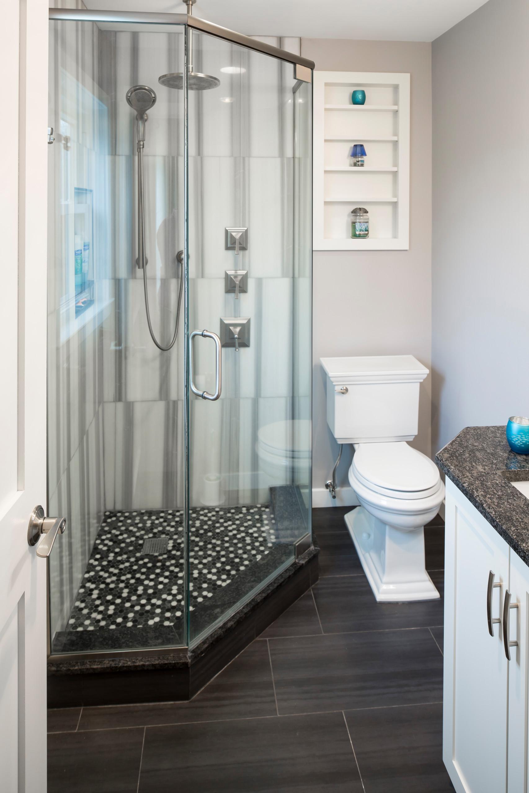 Steve and Leanne's Tiny Modern Bathroom