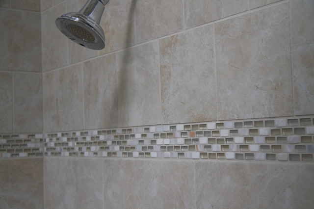 Attirant Stone U0026 Glass U0026 Shell Tile   Mosaic Tile Shower Installation Traditional  Bathroom