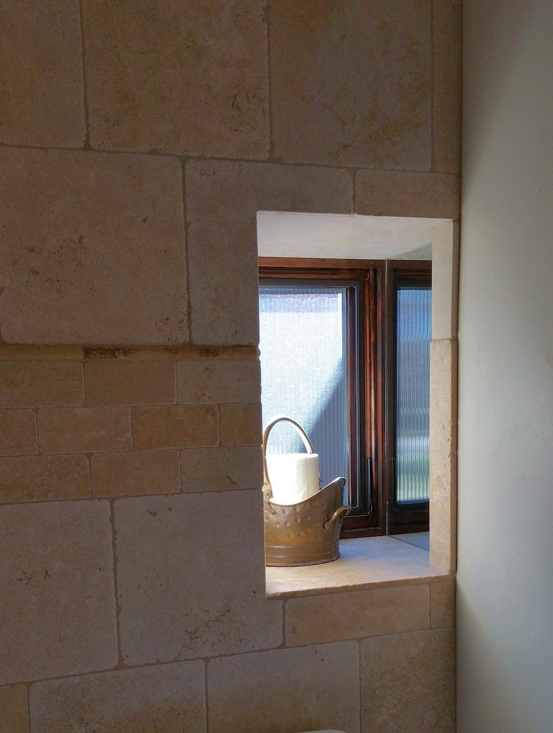 Stone bath niche - Page Springs AZ