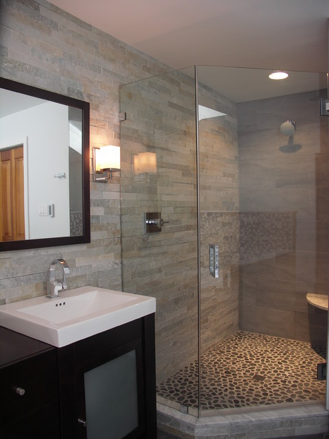 Stone Cladding In Bath Contemporary Bathroom Other