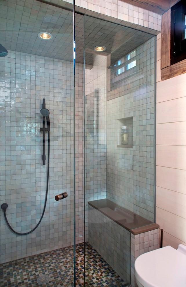 Example of a mountain style bathroom design in Denver