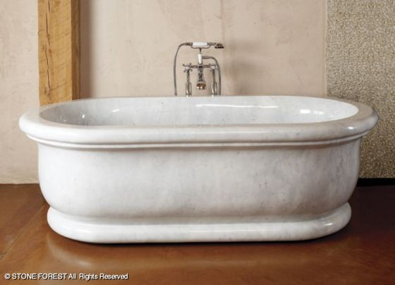 Stone forest bath tubs traditional bathtubs houston for How long is a standard bathtub