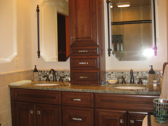 stone glass cabinet hardware bathroom design traditional bathroom