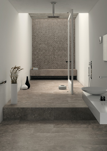 Stone Look Tiles - Tribeca Hudson - Contemporary - Bathroom - Perth ...
