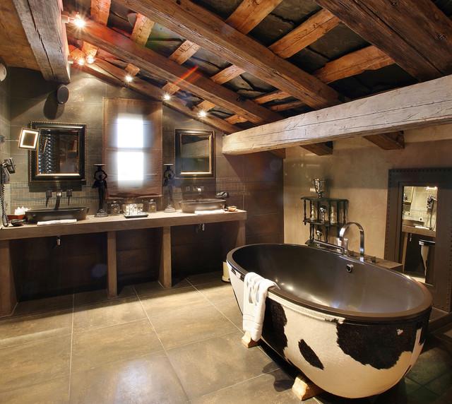 Stone One Leather contemporary-bathroom