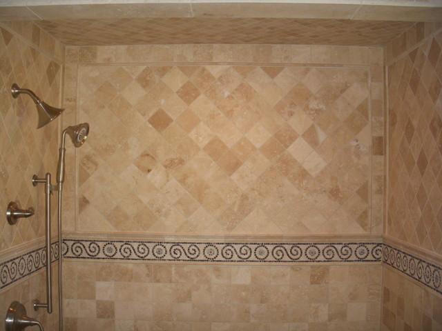 Stone Shower traditional-bathroom