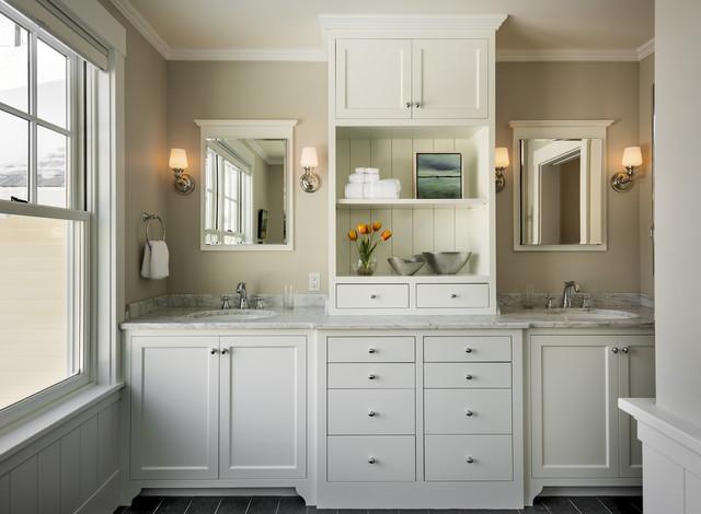 agreeable gray bathroom. Stonewall Farmhouse traditional bathroom  Traditional Bathroom Portland Maine by