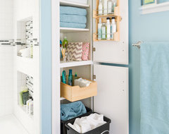 Storage-Packed Small Bathroom Makeover modern bathroom