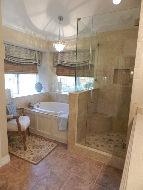 Strange master suite small bath for Master bathroom suite designs