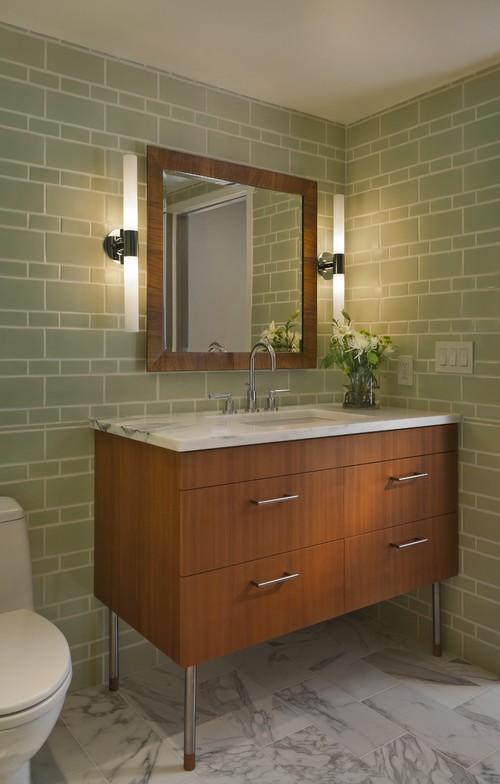 Dê um toque diferente na iluminação do seu banheiro