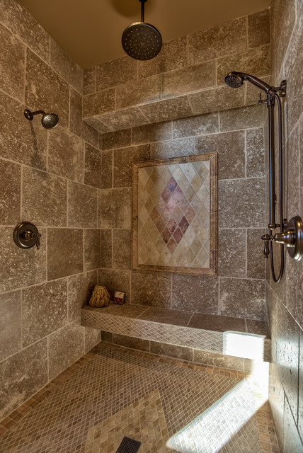 Street Of Dreams Tuscan Villa Mediterranean Bathroom Omaha By Inspired Interiors