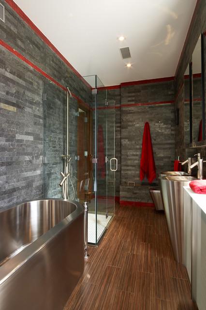 Strip Cladding Bathroom QS contemporary-bathroom