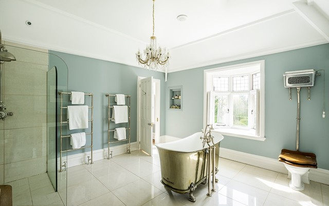 Stunning Country House Renovation Transitional Bathroom Manchester Uk By Gail Marsden