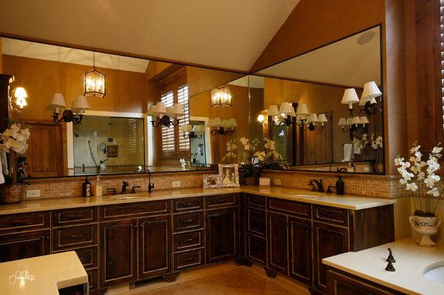 Stunning Master Bathroom Vanity With Double Sink Traditional Bathroom O