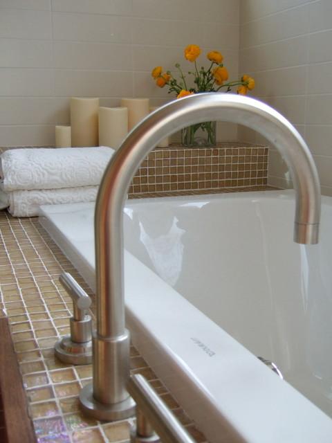 Suburban Update contemporary-bathroom