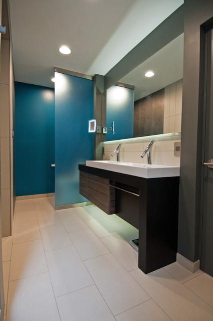 Suburban Zen Bathroom Remodel Modern Bathroom Charlotte By Freespace Design Llc