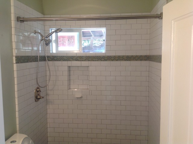 Subway tile bathroom remodel traditional bathroom for Bathroom ideas subway tile