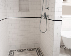Subway Tile Shower traditional-bathroom