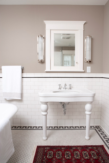 Subway Tile Shower Traditional