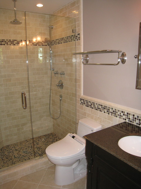 Shower Subway Tile subway tile shower - contemporary - bathroom - san diego