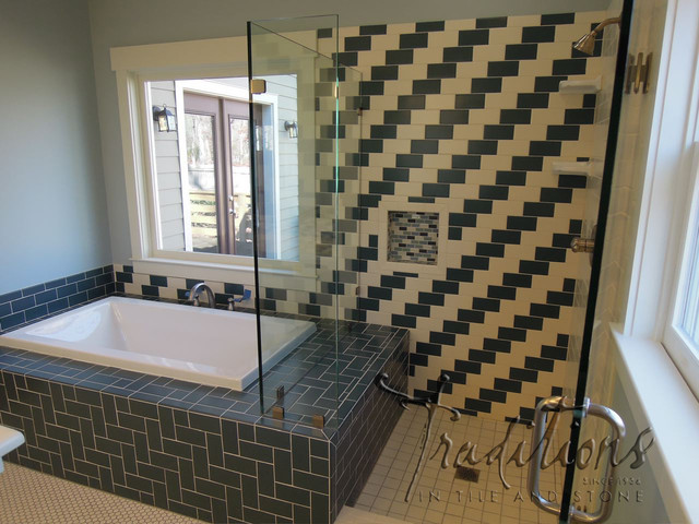 Subway Tile With A Twist Bathroom Atlanta By
