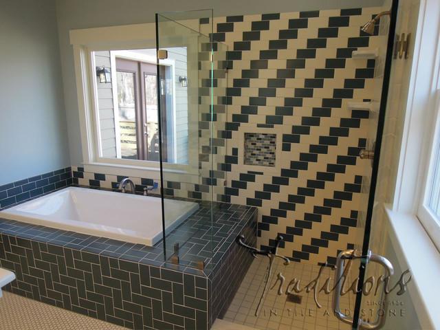 Subway Tile with a Twist bathroom