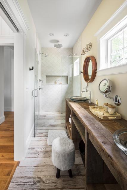 Summer house in blue custom home master bathroom beach for Gmt home designs inc