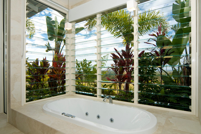 Summit House Tropical Bathroom Other Metro By Skale Building Design