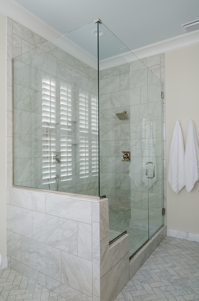 Inspiration for a farmhouse bathroom remodel in Other