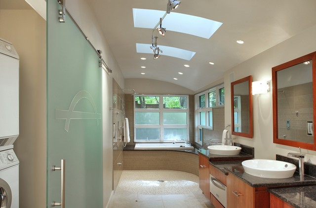 Sun Room Reimagined Bathroom Spa Contemporary Bathroom