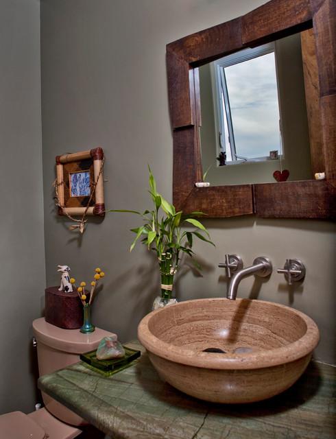 Sunset Drive mediterranean-bathroom