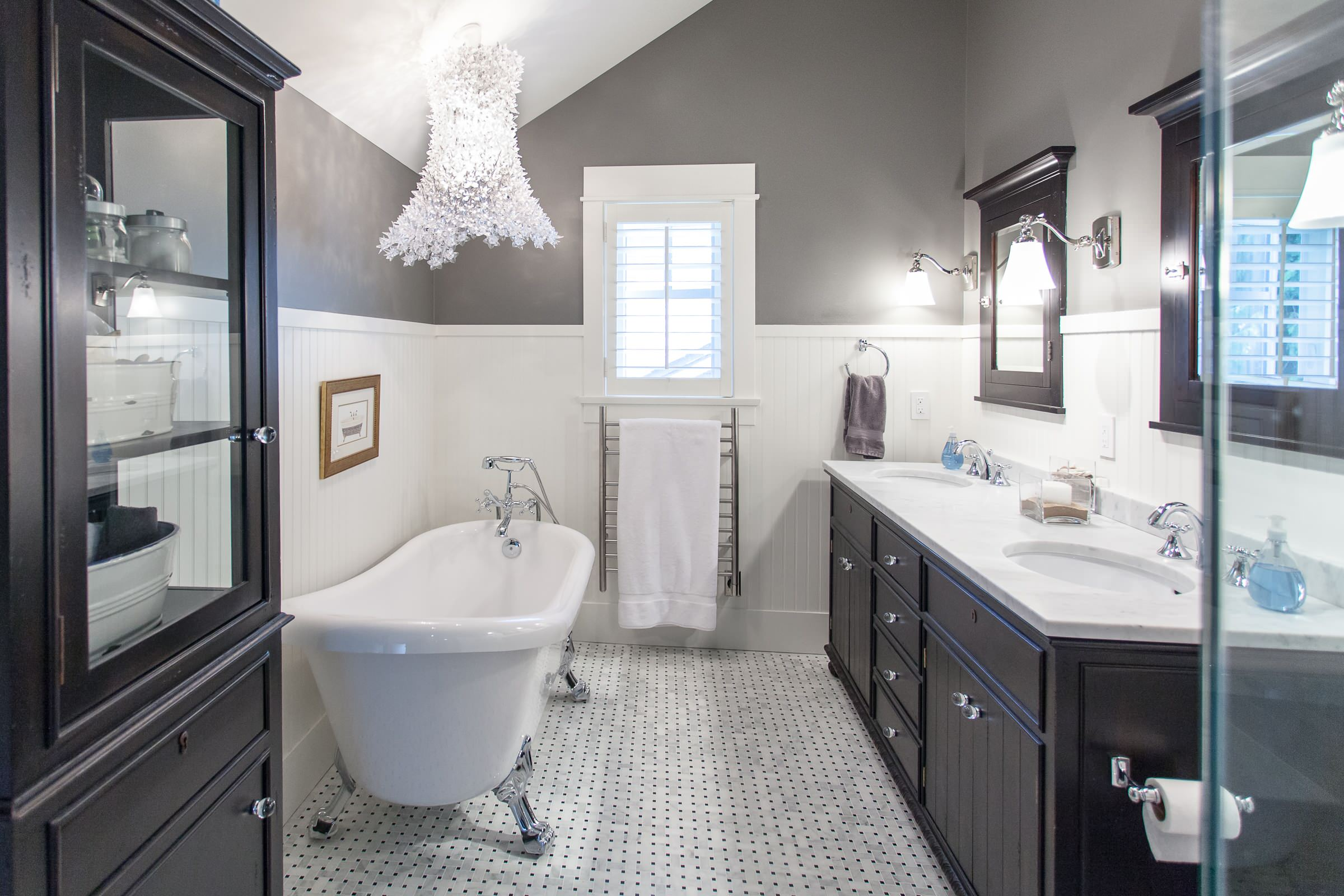 Black And White Marble Floor Bathroom Ideas Photos Houzz