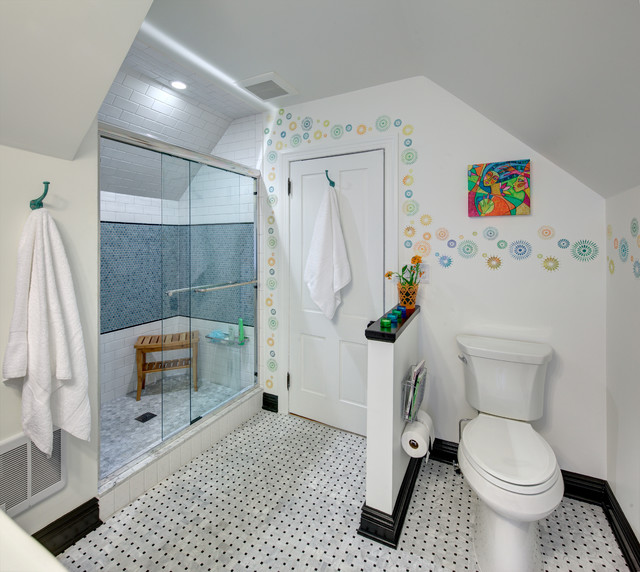super cute teen bath eclectic bathroom new york