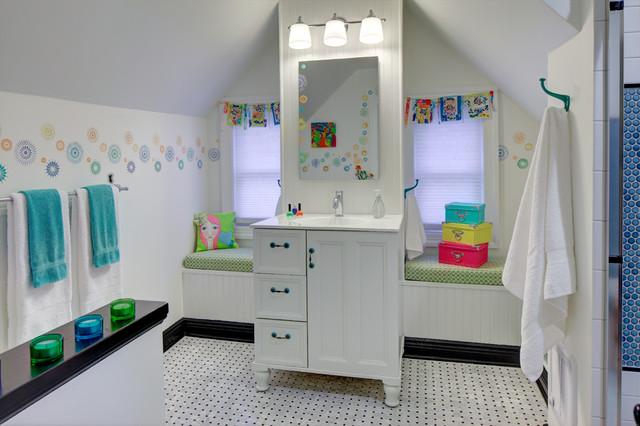 Super Cute Teen Bath Eclectic Bathroom New York By Tracey Stephens Interior Design Inc