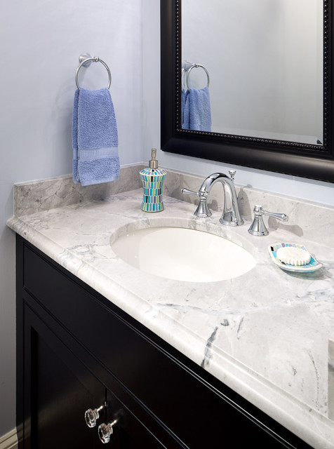 Super White Quartzite Vanity Modern Bathroom Boston