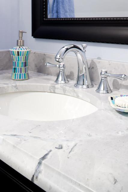 Super White Quartzite Vanity modern-bathroom