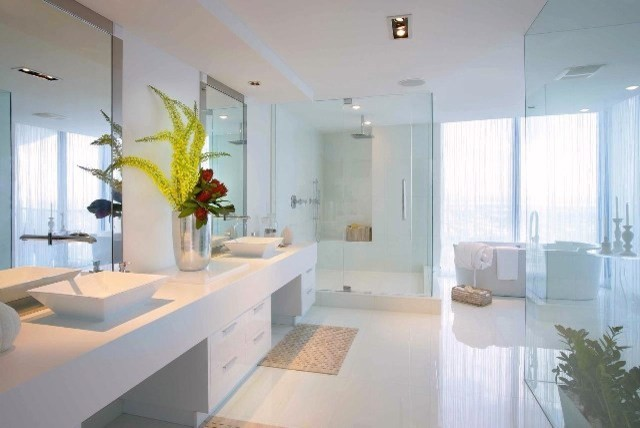 Supreme Milk Glass Tile Modern Bathroom Miami By Mineral Tiles