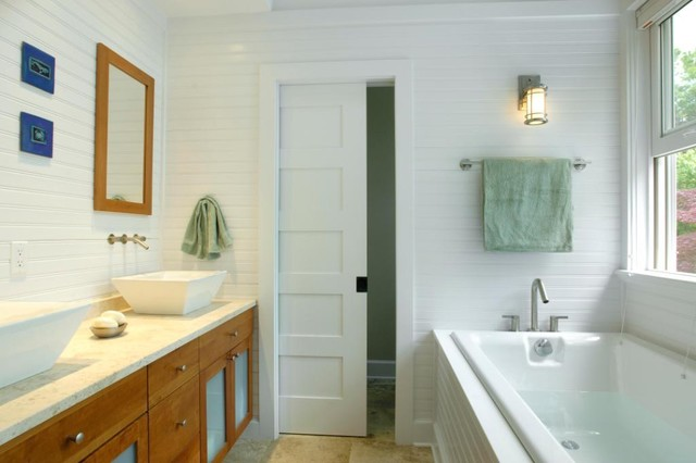 eclectic bathroom by Richard Bubnowski Design LLC