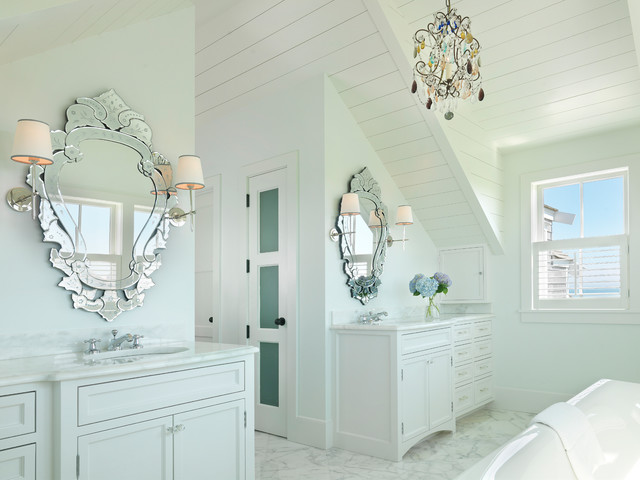 Surfside chic nantucket beach style bathroom boston